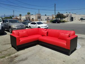 NEW 7X9FT RED LEATHER COMBO SECTIONAL COUCHES for Sale in Cathedral City, CA