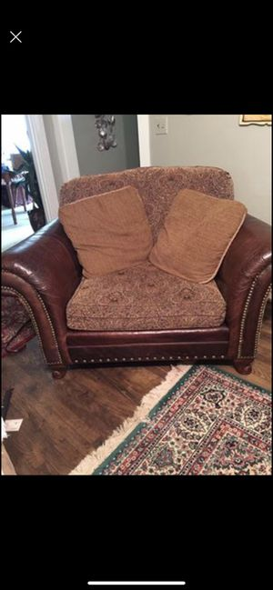 Leather Oversized Chair and Couch for Sale in Murray, KY