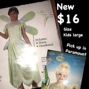 Tinkerbell & wig costume for Sale in Paramount, CA