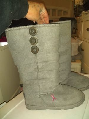 Used, Breast Cancer AWARENESS Edition, Pink Ribbon,Uggs style, Slouch Boots. for Sale for sale  Croydon, PA