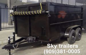 8 X 10 X 4 DUMP TRAILER FACTORY DIRECT! SKY TRAILERS for Sale in Riverside, CA