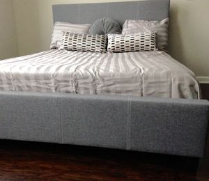 New Gray King Bed for Sale in Chevy Chase, MD