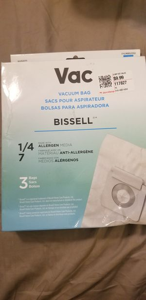 Bissell Vacuum bags 1/4 7 for Sale in Spring, TX