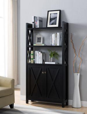 Michelle 2 Door Bookcase, Black Color for Sale in Santa Ana, CA