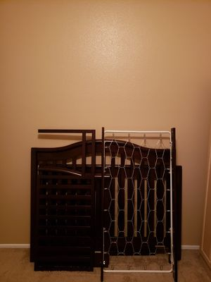 Espresso Baby Crib Converts into Toddler Bed for Sale in Beaumont, CA