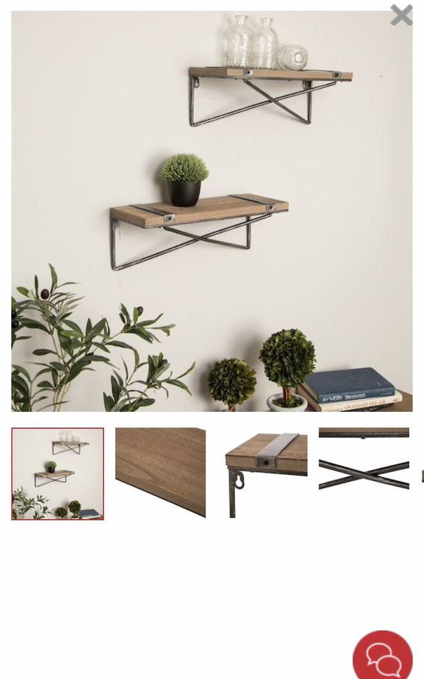 RUSTIC WALL SHELVES SET OF 2