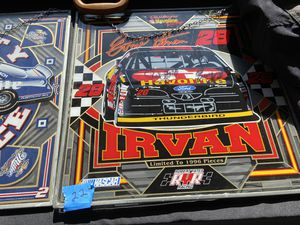 Car sports on leaded glass with chain for Sale in Rockwood, MI