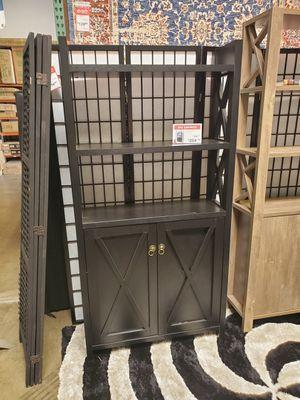 Michelle 2 Door Bookcase, Black for Sale in Tustin, CA
