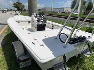 16 ft Eagle flats boat hull and trailer for Sale in Hollywood, FL