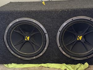 Massive 4-channel AMP, two 12 inch subwoofers (KICKERS) for Sale in Avondale, AZ