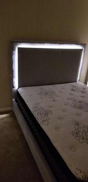 Full size LED platform bed frame for Sale in Jacksonville, FL
