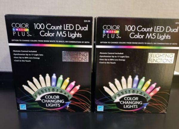 Chrismas Lights Color Switch Plus 100-Count M5 Dual Color Changing LED