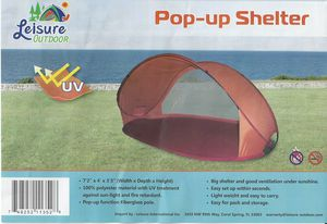 Pop Up Tent Shelter Shade Beach Camping Hiking BBQ Tailgate for Sale in Delray Beach, FL
