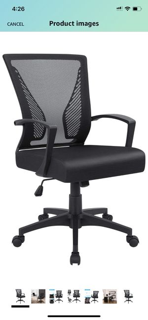 Office chair-lumbar support for Sale in Charlotte, NC