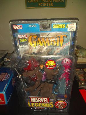 Brand New Marvel Legends Gambit Series IV Action Figure W/Comic Book Toybiz 2003 for Sale in Lexington, KY