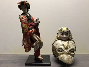 Antique Hand Made Geisha Doll & Fat Man Doll for Sale in Salem, OR