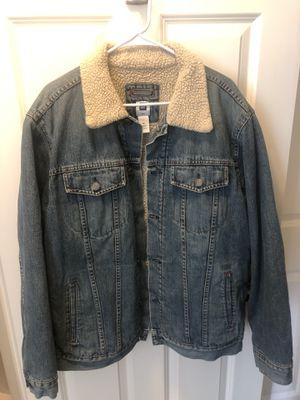 Men's Gap Sherpa Denim Jacket XL for Sale in Hyattsville, MD