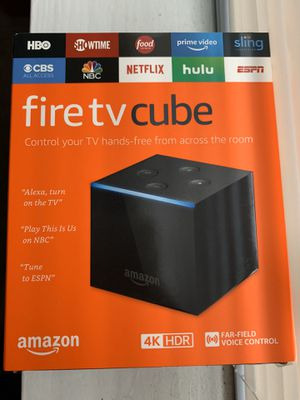 Fire Tv Cube hands free with Alexa 4kHDR for Sale in Seattle, WA