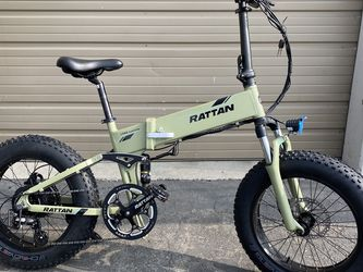 """RATTAN FAT BEAR PLUS - 500 Watts """"Self-Charging"""" Fat Tire Folding Aluminum Electric Bike in 3 Colors - Brand New for Sale in City of Industry,  CA"""