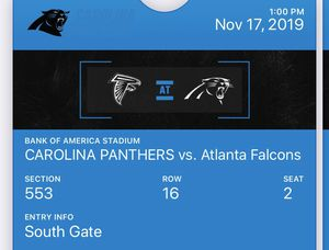 Panthers tickets for Sale in Greensboro, NC