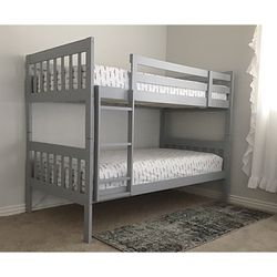 New!! Twin Bed, Twin Over Twin Bunkbed, Twin Bunk Bed, Bedroom Furniture for Sale in Phoenix,  AZ