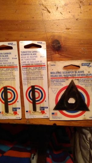 Hyde tools replacement carbide scrapper blades for Sale in Veneta, OR