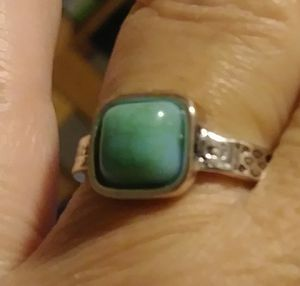 Tribal Silver Plated Turquoise Ring Size 7 for Sale in Pico Rivera, CA