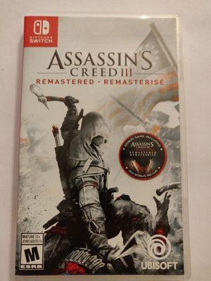 Nintendo Switch Assassin's Creed 3 for Sale in Spokane, WA