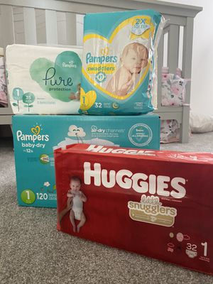 Baby Diapers - Size 1 - $30 for all for Sale in Aurora, CO
