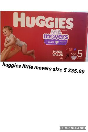 huggies little movers size 5 for Sale in Los Angeles, CA