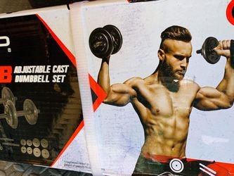 Brand New 🎁 40 Lbs CAP Adjustable Cast Dumbbell Set💪🏋🏻♀️ for Sale in Stockton,  CA