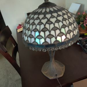 Tiffany style lamp with brass base. for Sale in Bremerton, WA