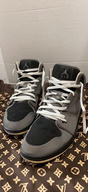 Nike Air Jordan 1 Flight 2 Hi Top Sneakers Grey/Black Size 11 for Sale in Dearborn, MI