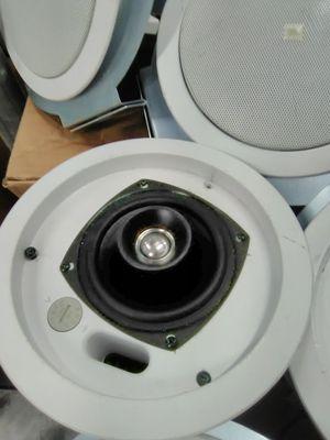 (6) JBL theater loudspeakers 24ct flush mount White ceiling for Sale in Houston, TX