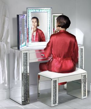 Mirrored Vanity Makeup Table w/ Lighted 2-Way Mirror for Sale in Kissimmee, FL
