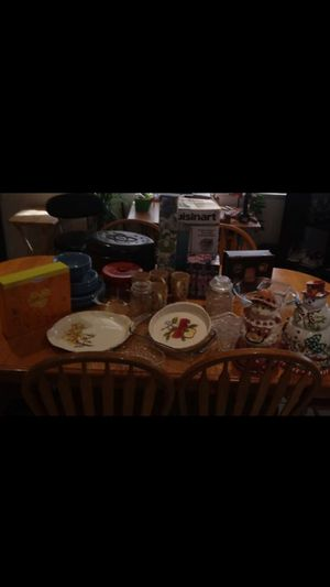 DISHES/PYREX/VAS/PURSE/CHILDREN'S CHAIRS for Sale in Las Vegas, NV