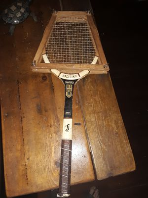 old Spalding tennis racket for Sale in Columbus, OH