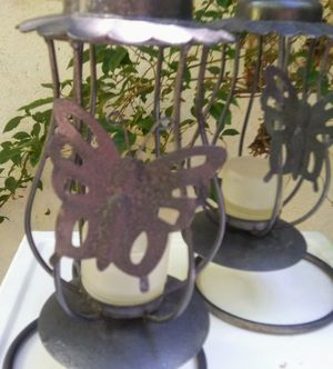 International Silver Company Hanging Candle Holder Butterfly Accent Set of 2 for Sale in Monrovia, CA