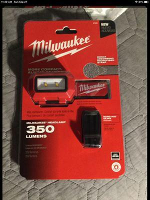 Milwaukee 350 lumens. headlamp for Sale in Garden Grove, CA