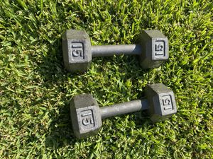 Two 15lb dumbbells for Sale in Long Beach, CA
