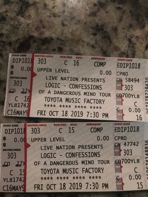 Logic Confessions of Dangerous Mind Tour for Sale in Plano, TX