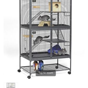 """Midwest Critter Nation Double Unit with Stand Small Animal Cage, 36"""" L X 24"""" W X 63"""" H for Sale in Lemont, IL"""