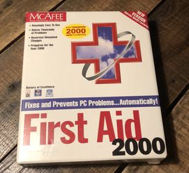 McAfee First Aid 2000 CD ROM for Sale in Rocky Point,  NY