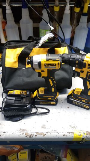 Dewalt impact drill set 2 20v lithium batteries for Sale in Jacksonville, FL
