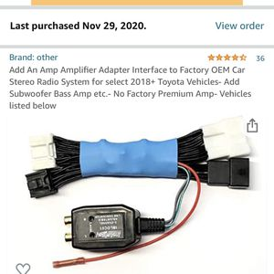 2020 Tacoma Amplifier Adapter for Sale in Vancouver, WA