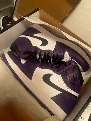 Jordan one court purple Brand new DS size 10.5 for Sale in Bridgeton, MO