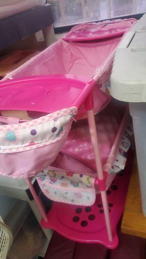 Bassoinette toy for dolls, 3 levels, pink for Sale in Scottsdale, AZ