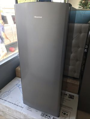 Hisense Mini Fridge With Freezer Stainless Steel. Excellent option for rooms, garages bbqs new never used with manufacturers warranty for Sale in Anaheim, CA