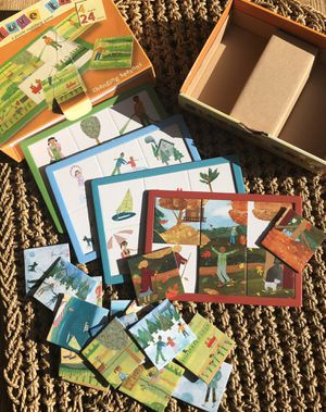 Picture this a puzzle matching game 4boards changing seasons 24pieces age3+ for Sale in McHenry, IL