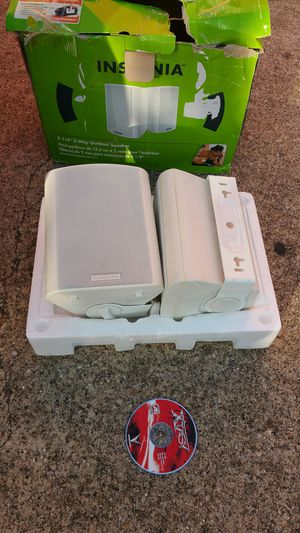 Outdoor speakers, Pair. 2-way. New for Sale in Richardson, TX